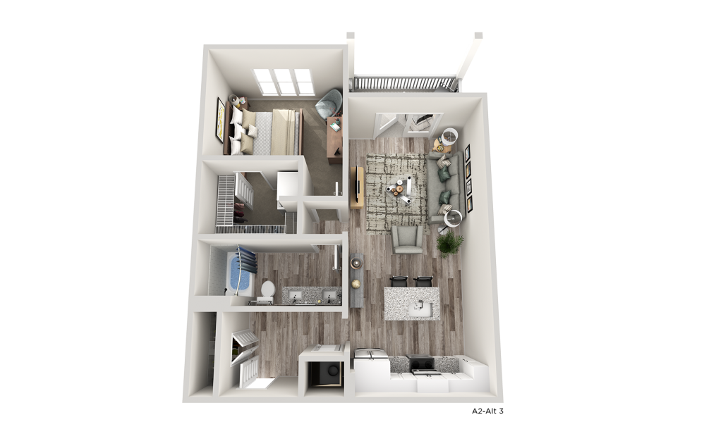 A2B one bedroom one bathroom