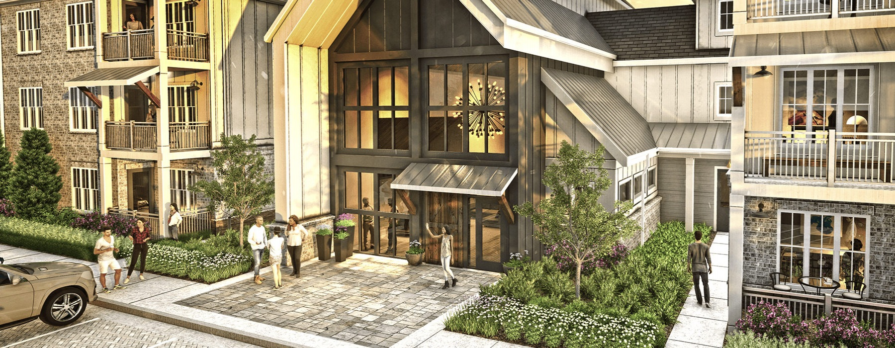 render of townhomes